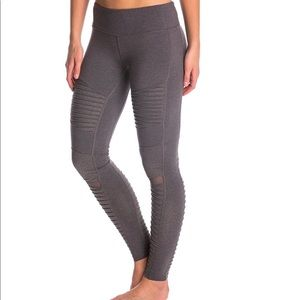 Alo Yoga Motto Legging Solid Gray Mesh Size XS